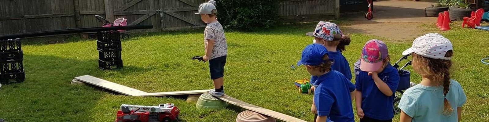 london road preschool outdoor play